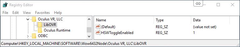 oculus_regedit