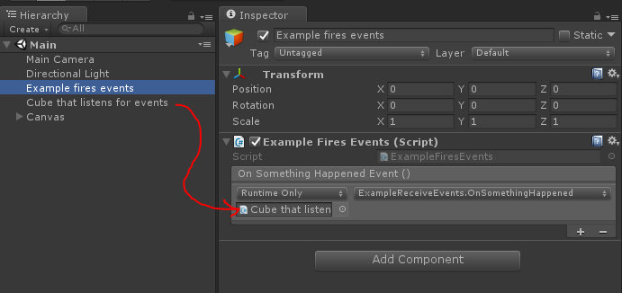 A better way to hook up events in Unity3d | TALES FROM THE RIFT